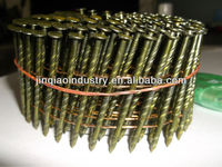 15 DEGREE SCREW/RING/SMOOTH SHANK WIRE COLLATED NAILS/PALLET COIL NAILS ON SALE