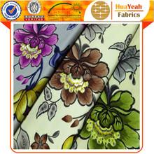 Upholstery floral printed bronzing velvet fabric for sofa