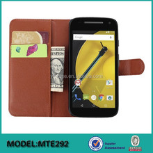 Hot selling ! Wallet leather case with card pocket for Motorola MOTO E 2nd 2015