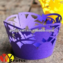 "Personalized Wedding Cake Accessories laser cut ""water flowers""Cupcake Wrappers Cake Wrappers from YOYO Crafts"