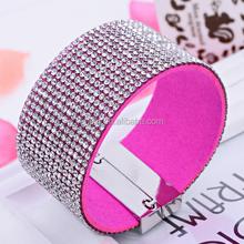 European New Design Magnetic Crystal Wide Fashion Bracelet