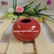Red Ceramic vase ceramic jar for home decoration