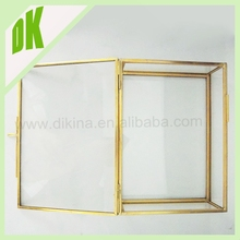 Factory offer big lots jewelry box for promotaional // new luxury brass color Elegant decorative big lots jewelry box