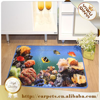 Best selling cheap Polyester And Nylon Non Slip Printed Door Kitchen Floor Mat