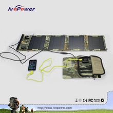 Ivopower exclusive detachable solar charger folding portable mobile solar panel charger for iPhone