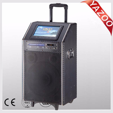 YAZOO hot sale A-910 120W 10inch battery speaker/proffessional active speaker with 9 inch touch screen membrane