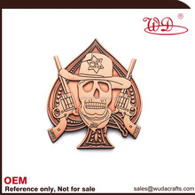 Metal badge carved car badge for business gift