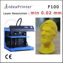 ideaPrinter F100 high resolution 0.02 mm big size 305*205*175 mm 3d copier 3d printer