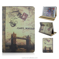London Tower Bridge Design PU Leather Flip Stand Smart Tablet Covers Case For iPad Air 2 For iPad 6 From Factory