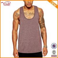 Jinhua YIZINA 100% Cotton Wholesale Sportswear Bodybuilding Mens Stringer Vest Gym Tank Top