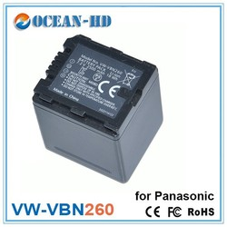 VW-VBN260 for Panasonic rechargeable battery pack 2500mah