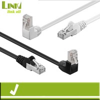 Linkacc-DC5e Right Angle Cat5e FTP Network RJ45 Ethernet LAN Patch Lead Cable