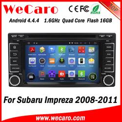 Wecaro Android 4.4.4 WC-SU7068 wifi 3g touch screen car dvd player car radio gps for subaru impreza 2008 2009 2010 2011