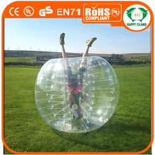 HI Exciting body game 0.8mm TPU/PVC search soccer games,bubble ball for football,bubble ball soccer