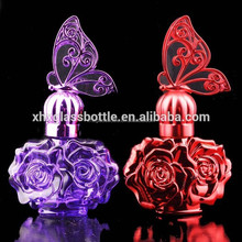 brand copy 30ml and 50ml lovely cute fancy unique purple red coated owl shape perfume empty glass bottle