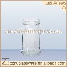 330ml / 11oz swing top glass storage jar / unique shaped glass jars for honey and jam / glass jars for kitchen