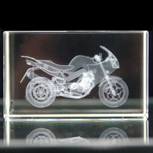 Wholesale high quality crystal glass 3d laser engraving cube for business gifts