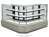 Diagonal Corner Cake Cabinet for refrigerator dispaly
