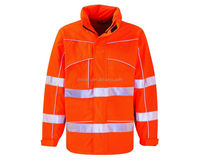 OEM service top class safety functional fire retardant protective jacket