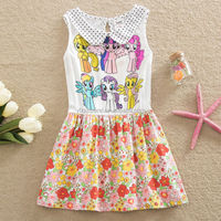 (H4943#) 3-8Y Peter pan collar children summer dress my little pony polka dot dress for girl