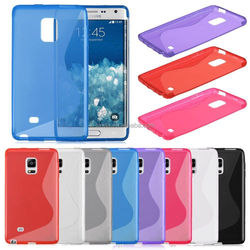 S-Line Soft Gel Tpu Silicone Skin Back Case Cover For Samsung Galaxy Note Edge N9150