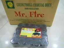 coconut shell charcoal for grilling.