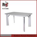 gran venta de madera blanca de comedor mesa de sala de venta al por mayor