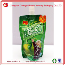 New style plastic pouches packaged drinking water