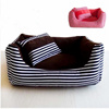 Pet nest washable cotton striped canvas large dog kennel