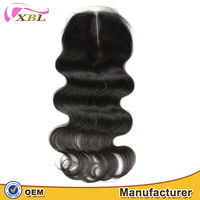 XBL hair wholesale virgin bohemian hair lace closure middle parting lace closure