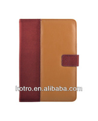 notebook stype leather case for ipad mini, multifunctional rotary leather cases for iPad mini, high quality for iPad mini case
