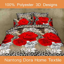 wholesale cheap 3d soft queen brushed microfiber quality 3d bed sheets