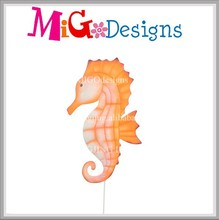 New business projects metal outdoor garden decorations with seahorse