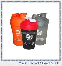2015 new plastic healthy protein shake sport water bottle