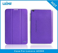 Factory quality tablet 8 inch PU leather flip cover case for lenovo a5500