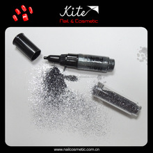 Cosmetic Nail Art Pen colorful nail art drawing pen 3ways with glitter