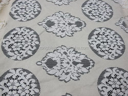 Top level top sell African white nylon and spandex lace fabric