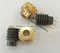copper worm gear set as printer gear, elevator worm gear