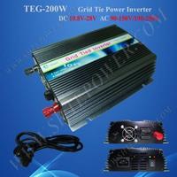 200W inverter 12V 220V, panel solar inverter on grid 200W, 12V/24V dc to 120V/220V ac