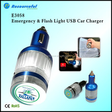 flash light USB car charger/Universal emergency