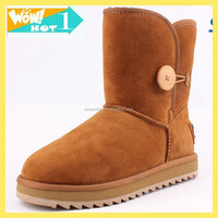 2015 new style cheap sheepskin winter snow boot for women