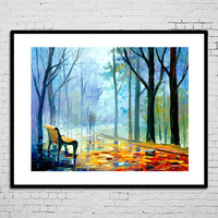 Modern wall decorative landscape watercolor painting