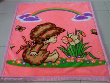 baby bed printed cover travel blanket