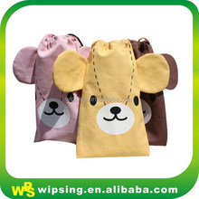 Natural Cartoon Canvas Tote Bag With Logo Printed