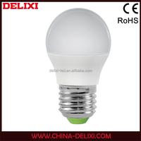 CE RoHS certificate energy saving G45 E27 led light bulb