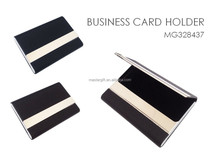 Promotional stainless steel PU executive business card holder