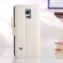Wallet replacement stand function colors various quality awesome PU leather mobile phone standing case cover for samsung S5