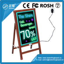 New products China 40*60cm advertising manufacturer supply restaurant dry erase led board used in raining days