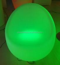 beautiful illuminated led colorful waterproof sofa chair