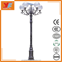 3-12m solar led garden light pole, excellent outdoor solar light for decoration, high lumen solar yard light
